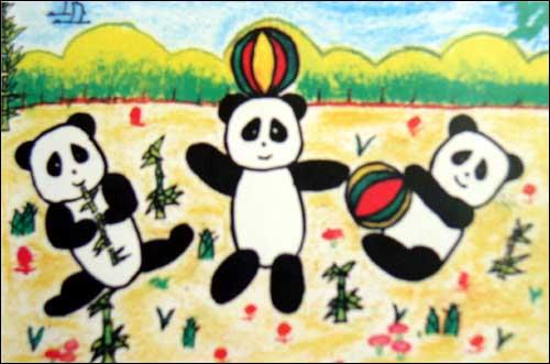 儿童绘画作品二_离线的风筝