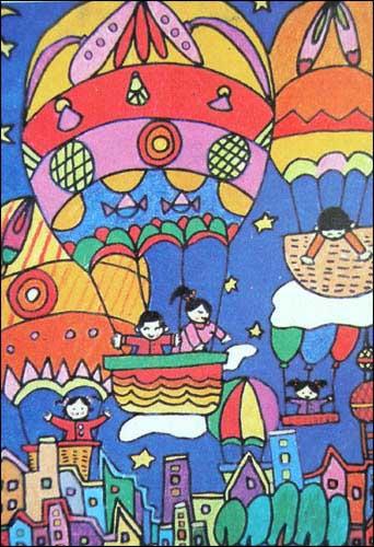 儿童绘画作品一图片