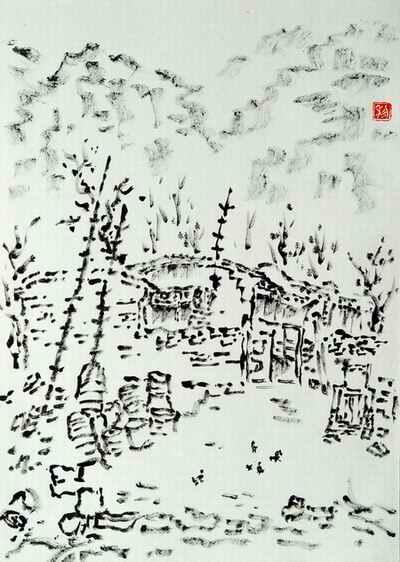 国画 简笔画 手绘 线稿 400_562 竖版 竖屏