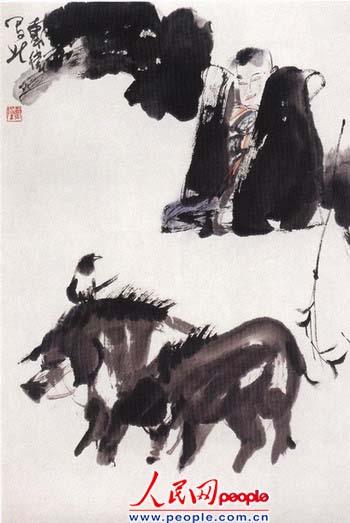 著名国画家戴卫作品欣赏图片