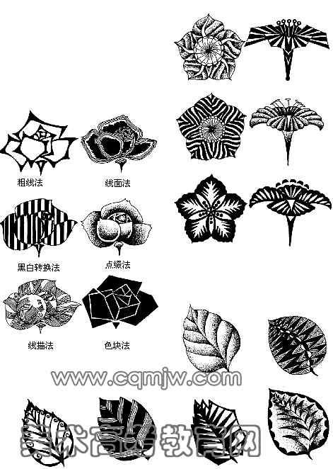 单独纹样即可单独成为一种图形的纹样设计,可不受任何外形的限制,显得